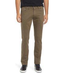 mavi jeans men's marcus slim straight leg jeans, size 38 x 32 in khaki washed supermove at nordstrom