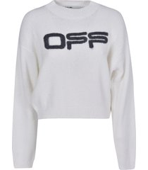 off-white logo knit sweater