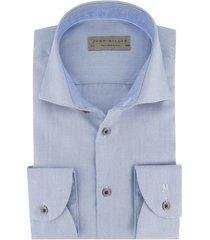 overhemd john miller blauw dessin tailored fit