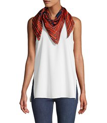 graphic wraparound silk scarf