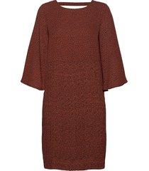 slfkinsley 3/4 short dress b korte jurk rood selected femme
