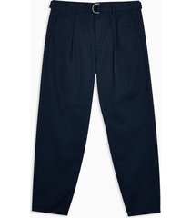 mens navy belted pants
