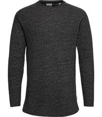 jcoozil tee ls crew neck . t-shirts long-sleeved svart jack & j s