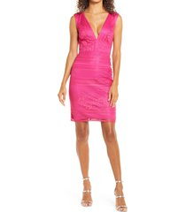 women's sho by tadashi shoji sleeveless lace sheath dress, size 8 - pink