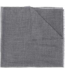 eleventy cachecol de cashmere com acabamento desfiado - cinza