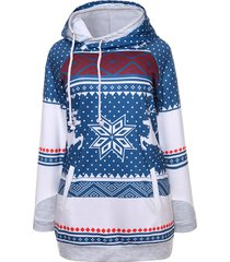 snowflake elk christmas hoodie