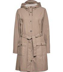 curve jacket regenkleding beige rains
