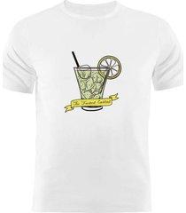 camiseta manga curta nerderia fresh cocktail branco - branco - masculino - dafiti