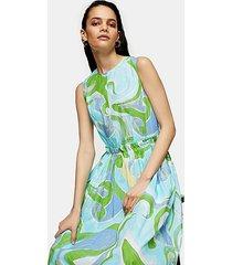 *blue print poplin dress by topshop boutique - blue