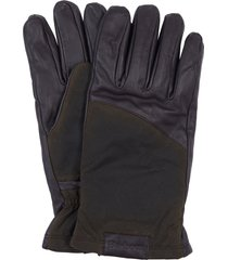 men's barbour hebden leather gloves, size medium - brown