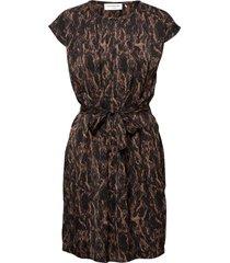 recycled polyester dress ss knälång klänning svart rosemunde