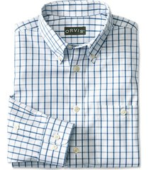 pure cotton wrinkle-free pinpoint oxford shirt / regular, medium blue, xx large