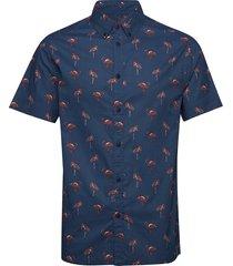akkian shirt kortärmad skjorta blå anerkjendt