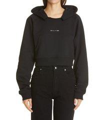 women's 1017 alyx 9sm logo crop hoodie