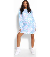 maternity tie dye crew neck sweat dress, multi