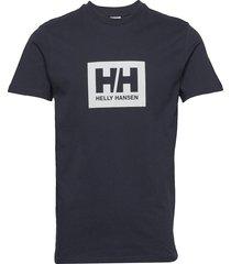 tokyo t-shirt t-shirts short-sleeved blå helly hansen