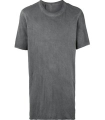 11 by boris bidjan saberi short-sleeve fitted t-shirt - grey