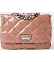 river island womens pink faux leather quilted shoulder bag