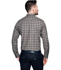 koszula bexley f2486 długi rękaw custom fit brąz