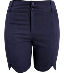 shorts pau a pique sarja marinho - azul marinho - feminino - dafiti