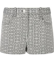 givenchy all-over printed denim shorts