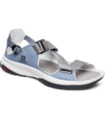 shoes tech sandal w shoes summer shoes flat sandals blå salomon