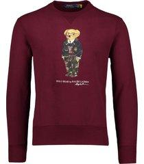 ralph lauren sweater bear bordeaux