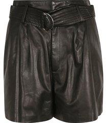 parosh belted leather shorts