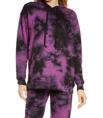women's oli viv monroe relaxed hoodie, size small - purple