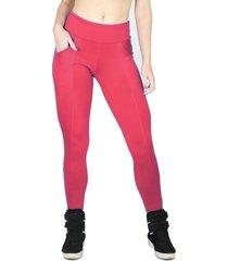 calça legging montaria bravaa modas modas com bolso suplex 134 vermelha