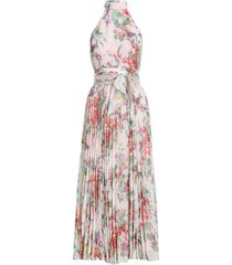 wavelength sunray picnic dress in pink scarlet floral