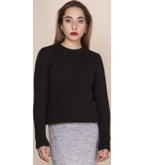 sweter z delikatnym włosiem czarny