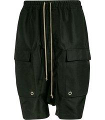 rick owens side cargo pocket detail shorts