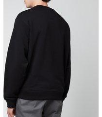 kenzo men's tiger crest classic sweatshirt - black - xs