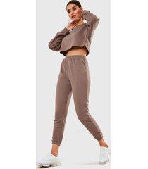 conjunto missguided beige - calce regular