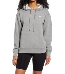 women's vans boxed in rosy graphic hoodie, size x-large - grey