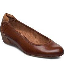 woms court shoe ballerinaskor ballerinas brun tamaris