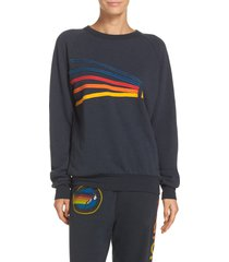 aviator nation daydream sweatshirt, size x-small in charcoal at nordstrom