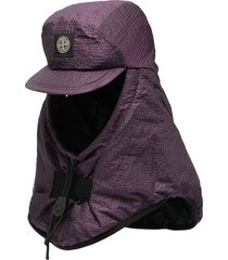 stone island padded cap balaclava - purple