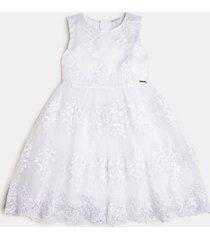 haftowana sukienka z siateczki