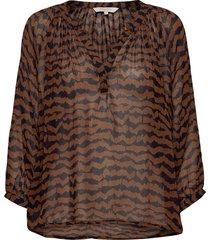 erdonaepw bl blouse lange mouwen bruin part two