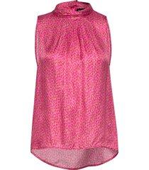 3367 - prosa top blus ärmlös rosa sand