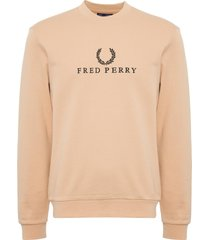 fred perry apricot ice embroidered sweatshirt m2606-g15