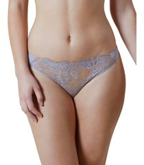 skarlett blue women's entice eyelash lace trim thong 371143