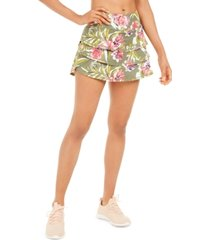 ideology printed flounce skort, created for macy's