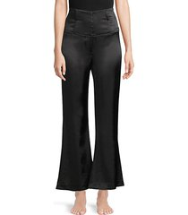 corset wide-leg silk pants