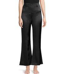 corset wide-leg silk pants