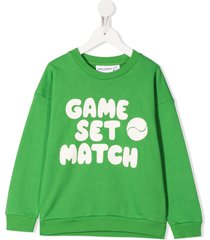mini rodini game set match print sweatshirt - green