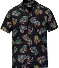 hurley men's botanical camp shirt