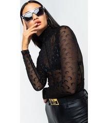 akira over the stars long sleeve mesh bodysuit